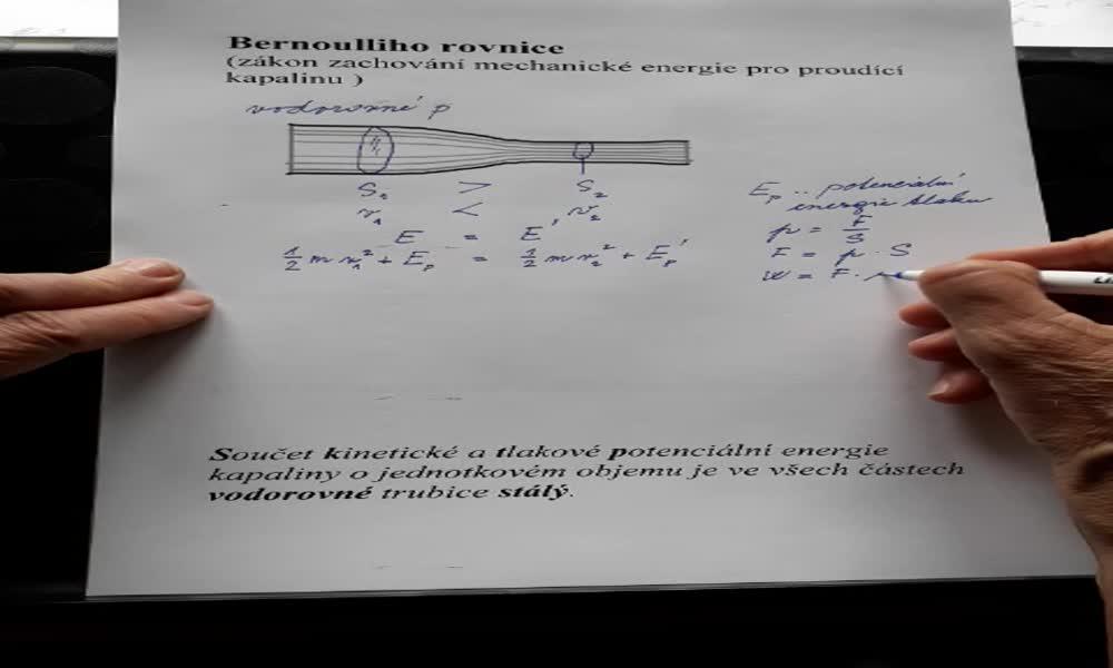 3. náhled výukového kurzu Bernoulliho rovnice