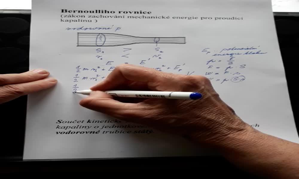 4. náhled výukového kurzu Bernoulliho rovnice